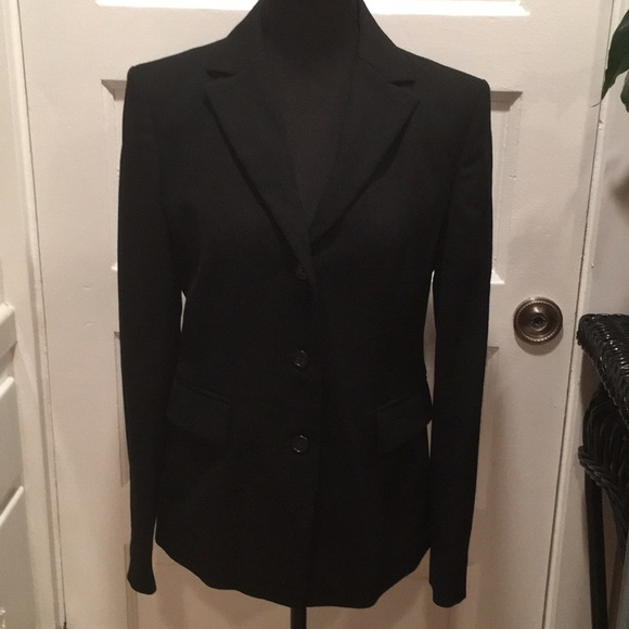 BLACK  J CREW JACKET,SIZE 6, VERY NICE, 100%WOOL